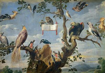 Frans Snyders Painting - Concert Of Birds by Frans Snyders