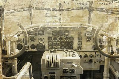 Plane Painting - Concord Cockpit by Ramona Murdock