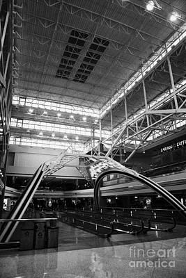 concourse B at Denver International Airport Colorado USA Art Print by Joe Fox