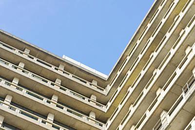 Concrete Building Art Print by Tom Gowanlock