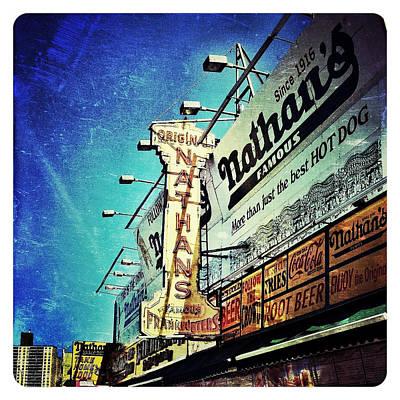 Hot Dogs Photograph - Coney Island Grub by Natasha Marco