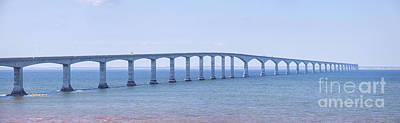 Confederation Bridge Panorama Art Print by Elena Elisseeva