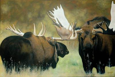 Confrontation Art Print by Jean Yves Crispo