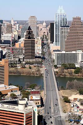 Frost Bank Building Photograph - Congress Avenue Austin Texas by Bill Cobb