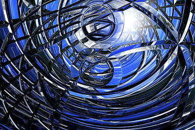 Computer Generated Art Photograph - Connections by Carol & Mike Werner