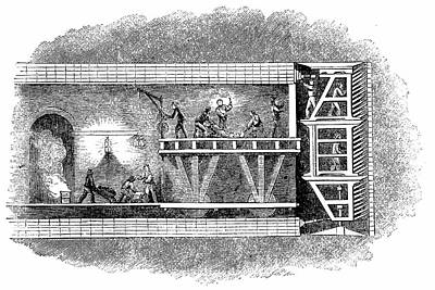 Construction Of Thames Tunnel Art Print by Universal History Archive/uig