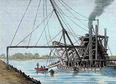 Rio Grande River Photograph - Construction Of The Panama Canal by Prisma Archivo