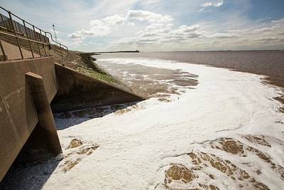 Contaminated Photograph - Contaminated Water Entering The Humber by Ashley Cooper