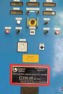 Boiler Photograph - Control Panels For The Biogas Boilers by Ashley Cooper