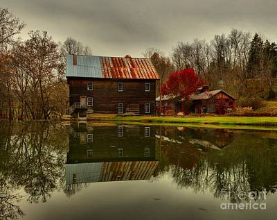 Photograph - Cook's Old Mill West Virginia by Adam Jewell