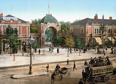 Park Scene Painting - Copenhagen Tivoli Park by Granger