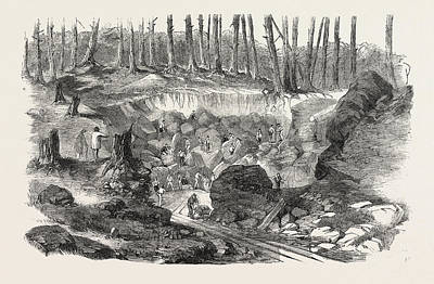 Copper Mine Or Quarry, Near Montreal, Canada Art Print by Canadian School