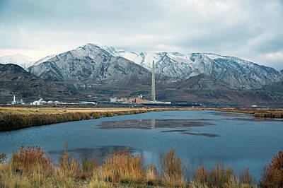 Great Salt Lake Photograph - Copper Smelting Plant by Jim West