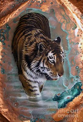 Copper Tiger I  Art Print by Sandi Baker