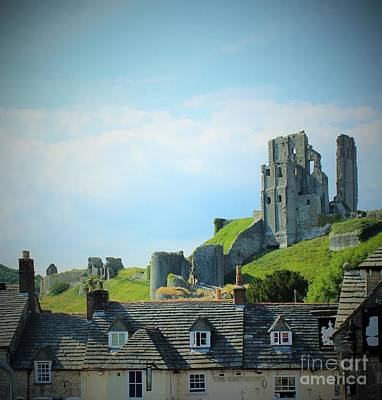 Photograph - Corfe Castle by Katy Mei