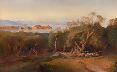 Corfu Painting - Corfu From Ascension by Mountain Dreams