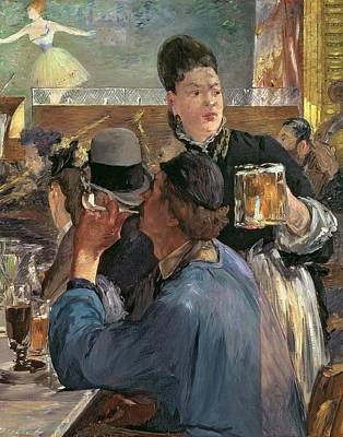 Corner Cafe Painting - Corner Of A Cafe-concert by Edouard Manet