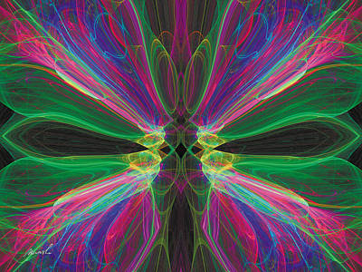 Digital Art - Cosmic Butterfly 2 by The Art of Marsha Charlebois