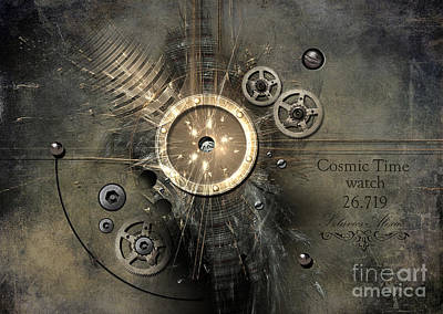 Painting - Cosmic Time Watch by Alexa Szlavics