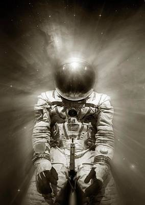 Extravehicular Activity Photograph - Cosmonaut In Space by Detlev Van Ravenswaay