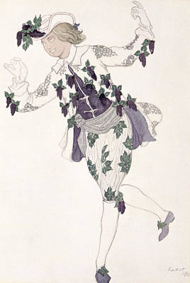 Leaf Drawing - Costume Design For The Pageboy by Leon Bakst