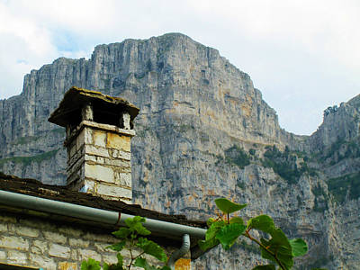 Photograph - Cottage And Mountain by Alexandros Daskalakis