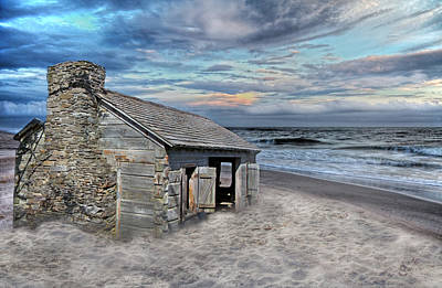 Beach Digital Art - Cottage by the Sea by Betsy Knapp