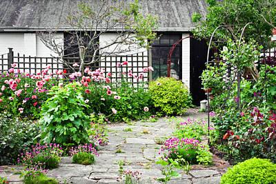 Cottage Garden Print by Tom Gowanlock