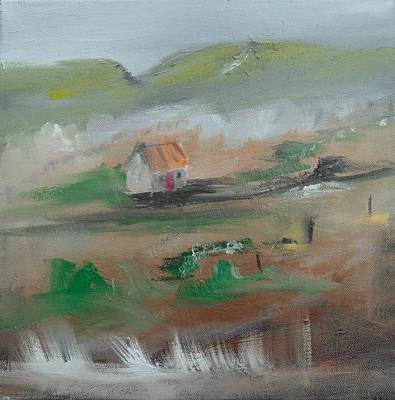 Painting - Cottage In The Hills by Mary Feeney