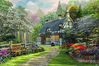 Cottage Pub Print by Dominic Davison