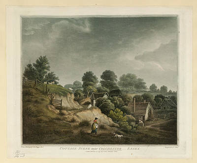 Cottage Scene Art Print by British Library