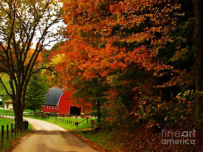 Country Side Painting Art Print