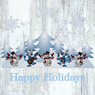 Digital Art - Country White Christmas by Florene Welebny
