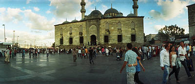 Courtyard In Front Of Yeni Cami Art Print by Panoramic Images