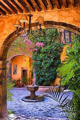 Photograph - Courtyard by Nicola Fiscarelli