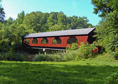 Art Print featuring the painting Covered Bridge by Debra Crank