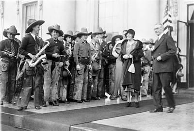 Saxophone Photograph - Cowboy Band, 1929 by Granger