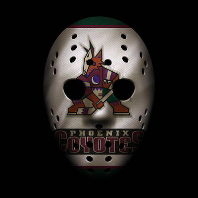 Skating Photograph - Coyotes Jersey Mask by Joe Hamilton
