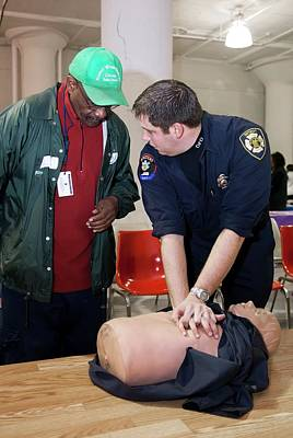 First Responders Wall Art - Photograph - Cpr Community Training by Jim West