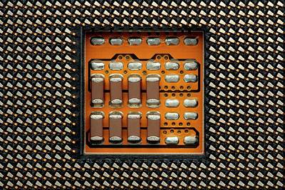 Cpu Socket Art Print by Antonio Romero