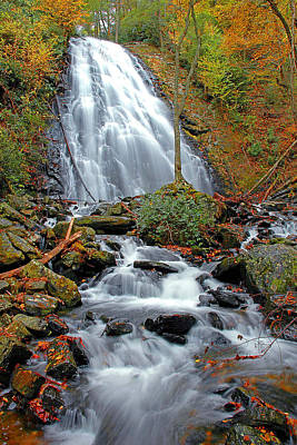Photograph - Crabtree Falls by Alan Lenk