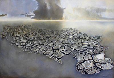 Disintegrate Painting - Cracked Yugoslavia by Mirko Sikimic