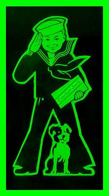 Popular Culture Drawing - Crackerjack Green by Rob Hans