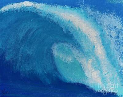 Painting - A Crashing Wave by D Hackett