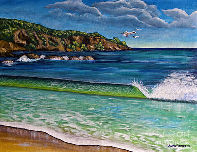 Painting - Crashing Wave by Laura Forde