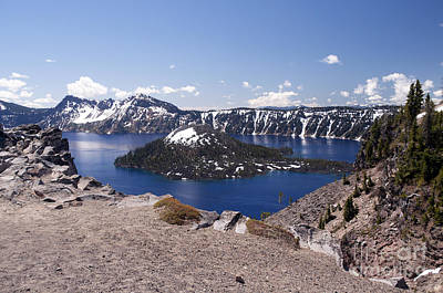 Photograph - 750p Crater Lake Oregon by NightVisions