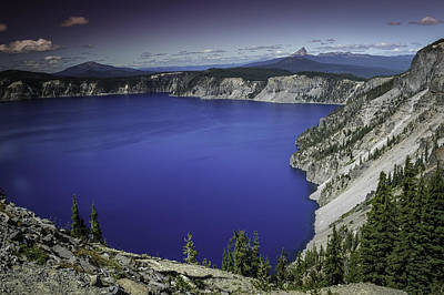 Crater Lake Art Print by Jean-Jacques Thebault