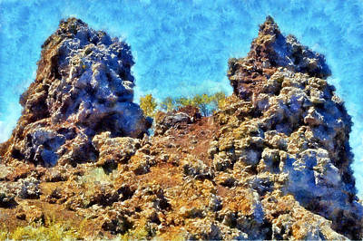 Digital Art - Craters Of The Moon Cinder Crags by Kaylee Mason