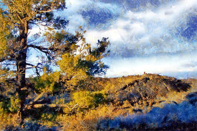 Digital Art - Craters Of The Moon Sagebrush by Kaylee Mason