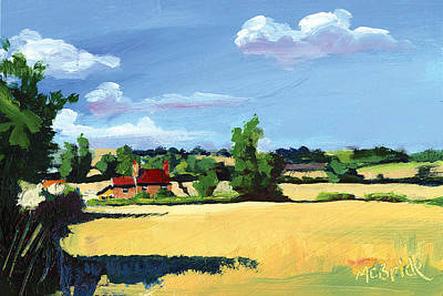 Expressionist Painting - Crayke Farm North Yorkshire by Neil McBride
